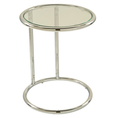 OFD Glass Circle Table with Chrome Frame   351.00