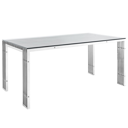 Modway Gridiron Stainless Steel Dining Table   889.00