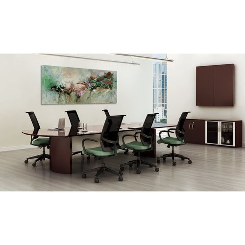 Quick Overview   The Napoli veneer conference room furniture features elegant lines with excellent durability.