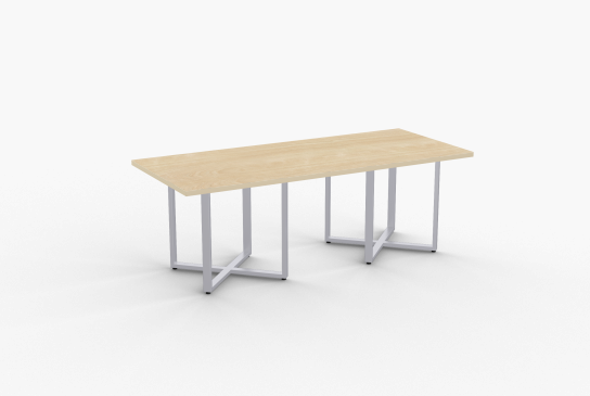"Quick Overview   STRUCTURE-Cube table features 14 gauge rectangular steel base. It is offered in rectangular, round and square shapes and is ideal for conference or cafeteria applications. SpecialT table tops are nominal 1-1/4"" thick. Core is 1-1/8"" thick 45# M3 industrial strength density particle board. The top surface is laminated with High Pressure Laminate (HPL) and the bottom is covered with a balance backer. Standard edge is 3mm PVC."