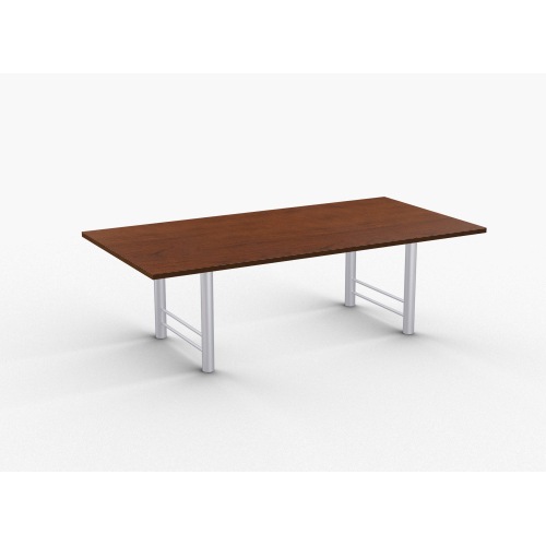 """Quick Overview   Benton features heavy duty 14 gauge H-Legs with all-welded construction. Tables 60"""" and longer include steel support to prevent sagging. Special•T table tops are nominal 1-1/4"""" thick. Core is 1-1/8"""" thick 45# M3 industrial strength density particle board. The top surface is laminated with High Pressure Laminate (HPL) and the bottom is covered with a balance backer. Standard edge is 3mm PVC."""