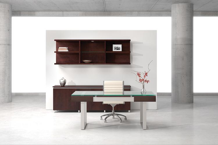 Darran Spaces Glass Top Sleigh Base Desk   6,294.00