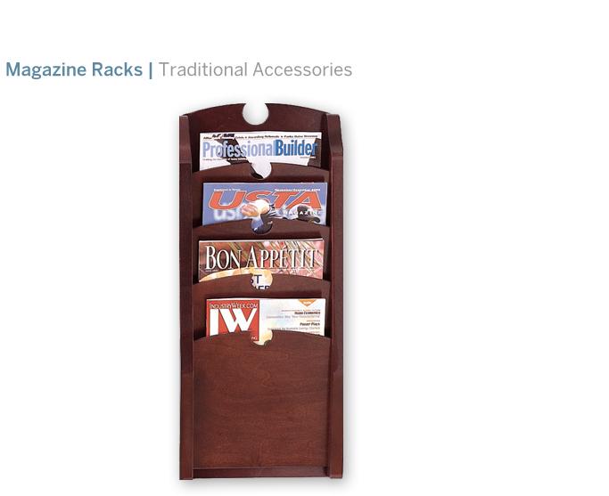 Lesro 4 Pocket Magazine Rack   188.00