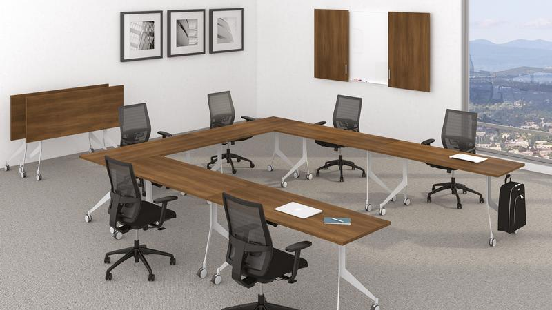 "Overview   The outcome of a modern vision of what furniture should be, the Quorum Multiconference collection redefines the word ""versatility"". Our tables are completely adaptable to new office technologies and are available in a wide variety of finishes, sizes and shapes"