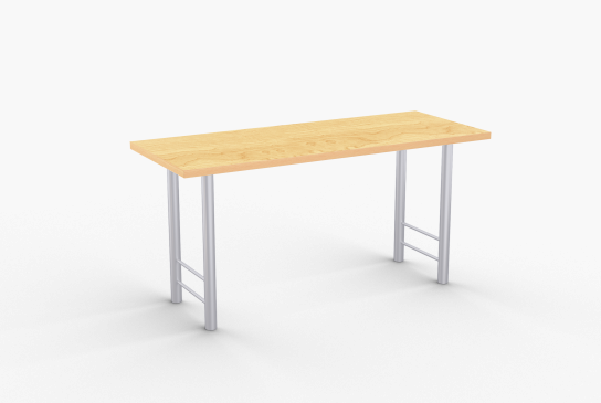 Overview   Antonio features durable tubular steel all welded construction legs and a variety of options including table shapes, laminate and edge colors, casters, bar height and modesty panel. Choose from numerous table sizes, colors and edge types.