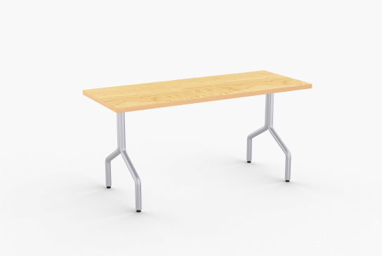 Overview   Elegant in its simplicity, Delta represents a modern version of a classic training table. Welded construction and oversized bell-shaped glides attribute to Delta's strength and durability while optional upscale skate casters allow for easy mobility.