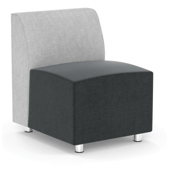 COE Armless Modular Chair with Silver Post Legs   640.00