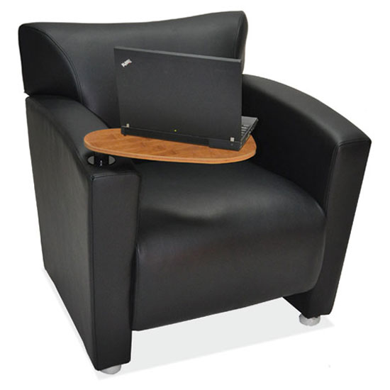 COE Tribeca Club Chair with Carbonized Finished Tablet Arm   $1,322.00