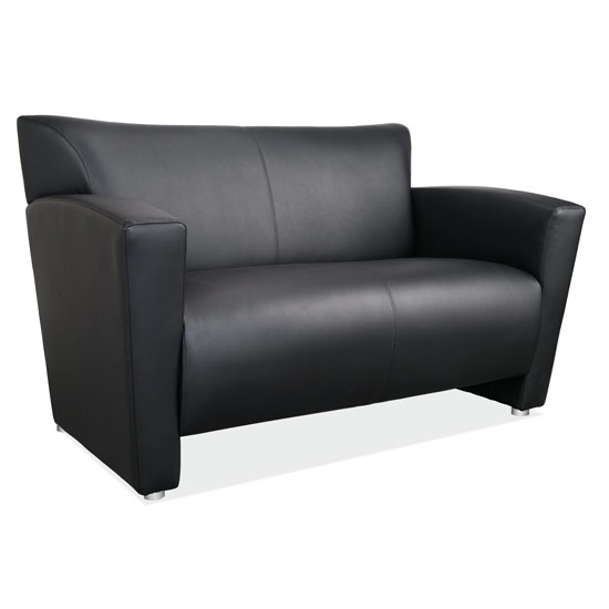 Quick Overview   The Tribeca Collection of furniture offers a sleek contemporary design that makes it a great choice for your office, and for your home. Each piece in the collection has been designed to be durable, and to offer the comfort that you're looking for. This comfortable loveseat is offered in black bonded leather or gray leathertek. It's easy to maintain, and will provide years of great use. It's spacious enough to keep your guests seated comfortably, and offers the right support for hours of relaxation. Create a warm and welcoming lobby or design the contemporary living room you've been dreaming of.