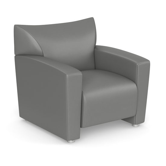Quick Overview   The Tribeca Collection of furniture offers a sleek contemporary design that makes it a great choice for your office, and for your home. Each piece in the collection has been designed to be durable, and to offer the comfort that you're looking for. This comfortable club chair is offered in black bonded leather or gray leathertek. It's easy to maintain, and will provide years of great use. This chair will work well as a stand-alone piece in your office, as a cozy place to read and reflect, but will also look great when included as a part of the whole collection.