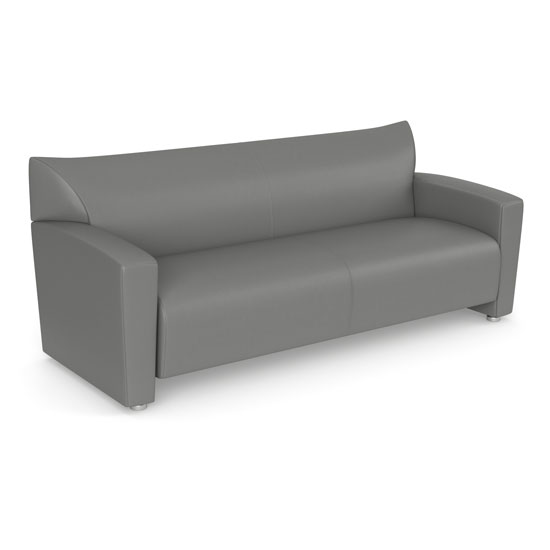 Quick Overview  The Tribeca Collection of furniture offers a sleek contemporary design that makes it a great choice for your office, and for your home. Each piece in the collection has been designed to be durable, and to offer the comfort that you're looking for. This comfortable sofa is offered in black bonded leather or gray leathertek. It's easy to maintain, and will provide years of great use. It's spacious enough to keep your guests seated comfortably, and offers the right support for hours of relaxation. Create a warm and welcoming lobby or design the contemporary living room you've been dreaming of.
