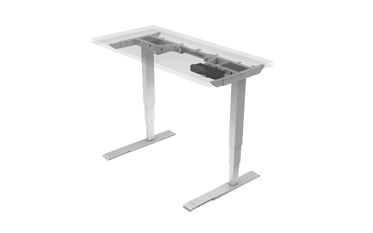 Quick Overview   The All-Flex® 2-leg is an innovative electric height adjustable table with a flexible width and depth.  Available base finishes: silver - SLV, black- BLK (LT), or white - WHT (LT).