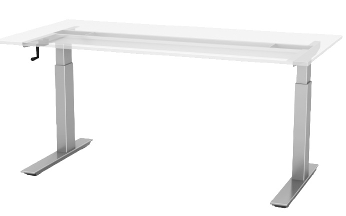 Quick Overview   This non-electric table base is ideal for mobile workstations, training rooms, and classrooms.  Available base finishes: silver - SLV (LT), black- BLK (LT), or white - WHT (LT).