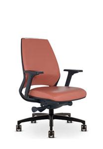 Via 4u Slim Line Upholstered Back Chair