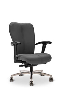 Via Voss Upholstered Full Scale Mid Back Chair