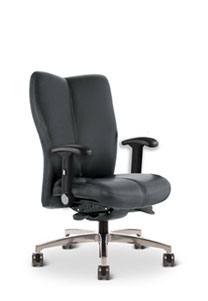 Via Vos   Upholstered Mid Scale Mid Back Chair
