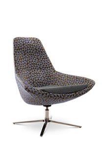 Via Astro Lounge Chair (in fabric)