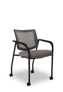 Via Vista II   Mesh Back Stack Chair with Casters