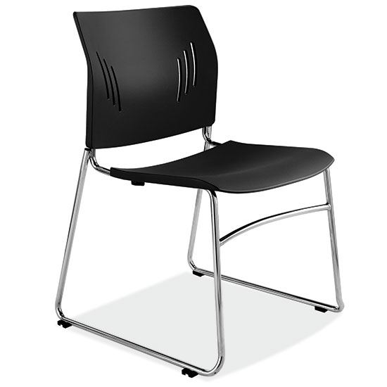 COE Armless Stackable Side Chair with Chrome Frame   136.00