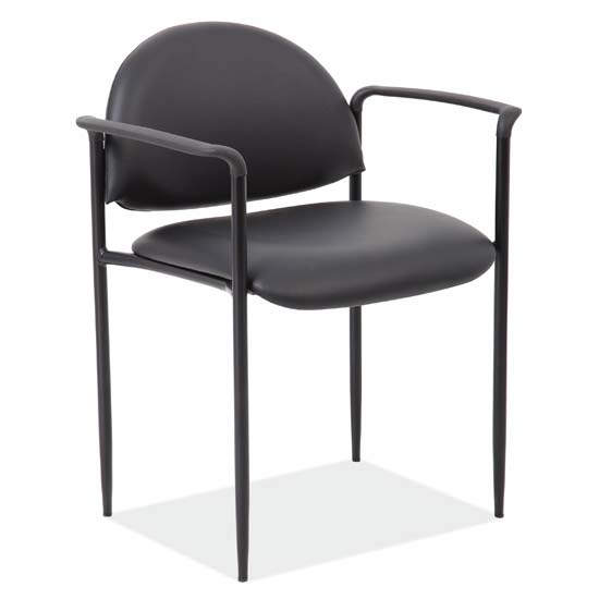 COE Stacking Side Chair with Arms and Black Frame   160.00
