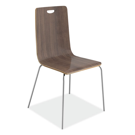 COE Wood Stack Chair, Hand Hole in Back with Chrome Base   321.00
