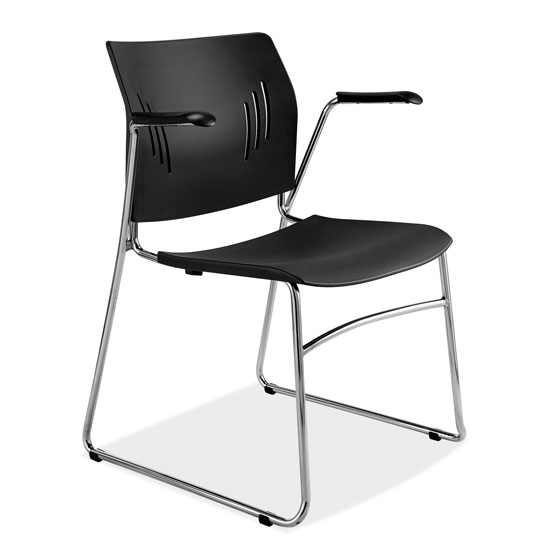 COE Stackable Side Chair with Chrome Frame   174.00