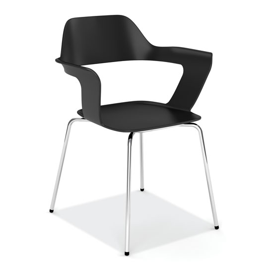 COE Stackable Chair with Chrome Frame   279.00