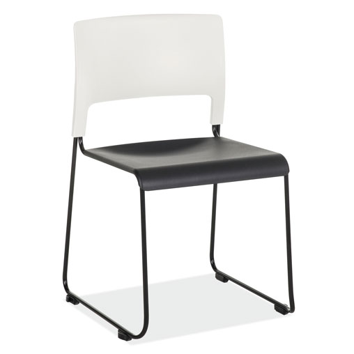 COE Stackable Side Chair with White Back and Black Frame   251.00
