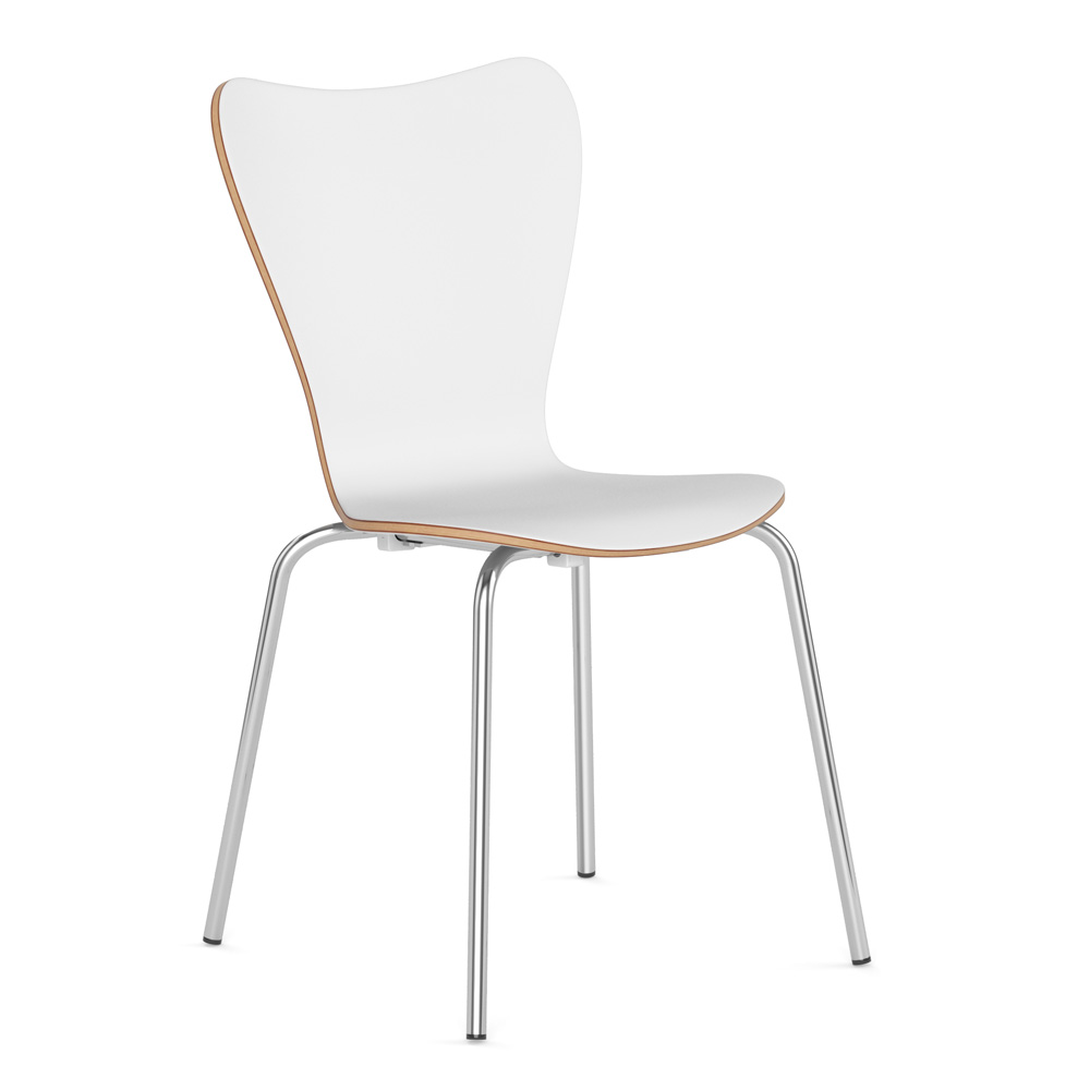 COE Wood Stack Chair with Chrome Base   294.00