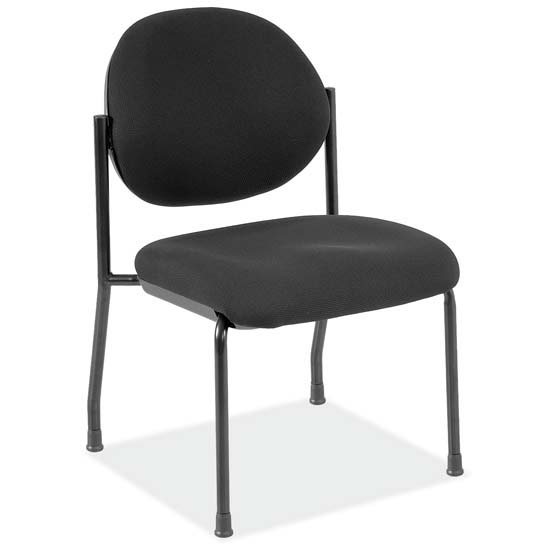 COE Armless Side Chair with Black Frame   249.00