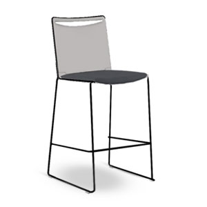Via Poly Soft Seat Bar & Counter Stool
