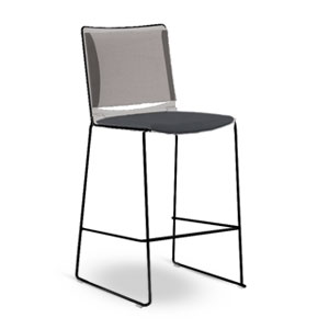 Via   Mesh Soft Bar & Counter Stool