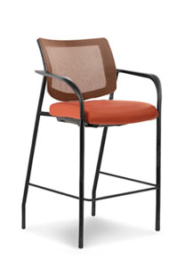 Via   Copper Mesh Back Bar Stool