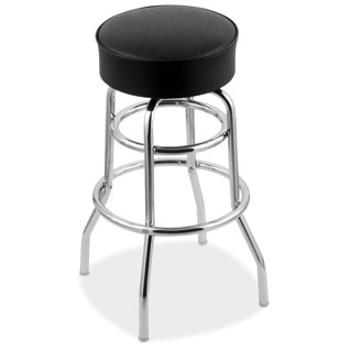 COE Vinyl Stool with Chrome Base