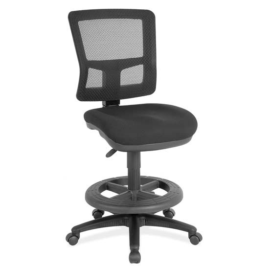 COE Armless, Mesh Task Chair with Black Frame