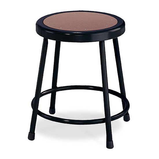 COE Black Stool with Round Hardboard Seat