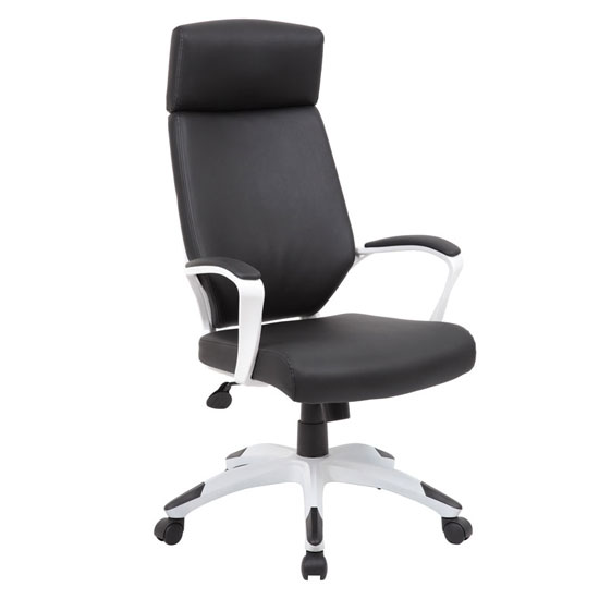 COE High Back Modern Executive Chair with White Frame