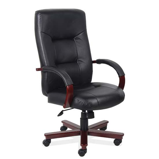 COE Executive High Back Swivel Tilt with Mahogany Frame