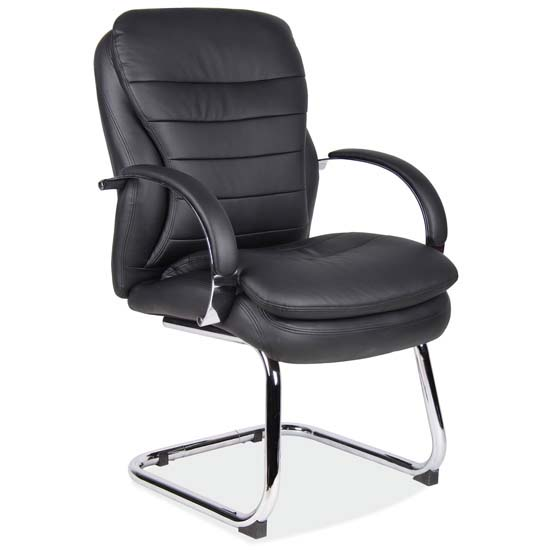 COE Sled Base Guest Chair with Chrome Frame