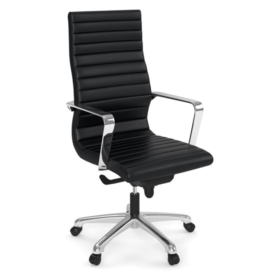 COE Executive High Back Chair with Chrome Frame