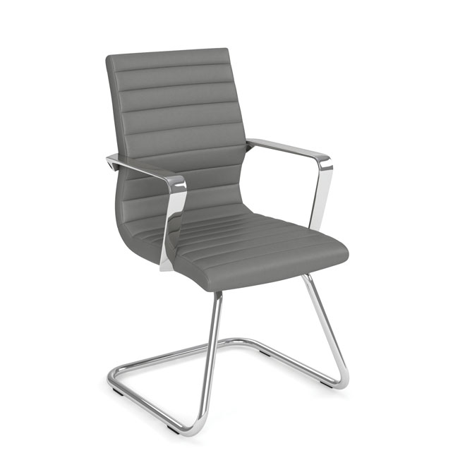 COE Executive Guest Sled Base Chair with Chrome Frame