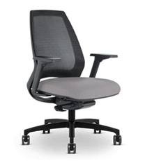 Via 4u Slim Line Mesh Back Chair
