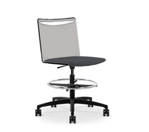 Via   Poly Soft Seat Light Task Stool