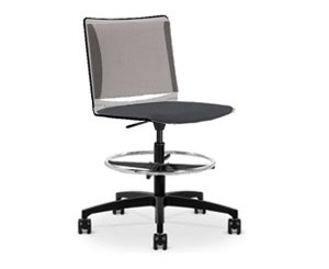 Via Mesh Soft Seat Light Task Stool