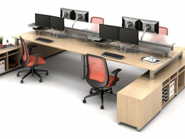 AIS Oxygen Benching/Desking with Bolton Seating and Calibrate Storage