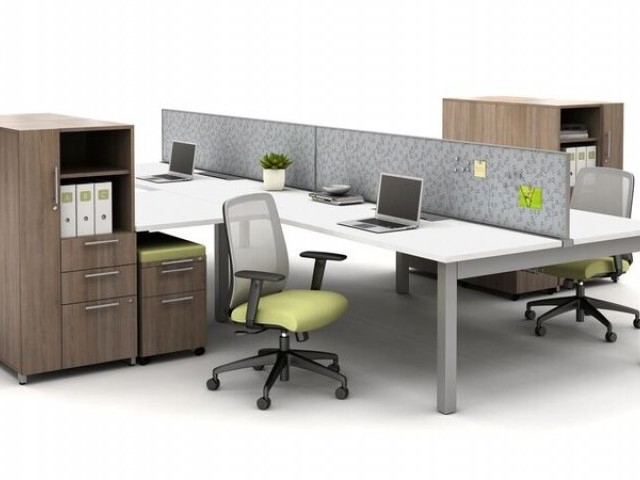 AIS Oxygen Benching Open Plan with Screens and Calibrate Storage with Bolton Seating