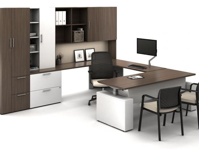 AIS Calibrate Series Casegoods Private Office Desk
