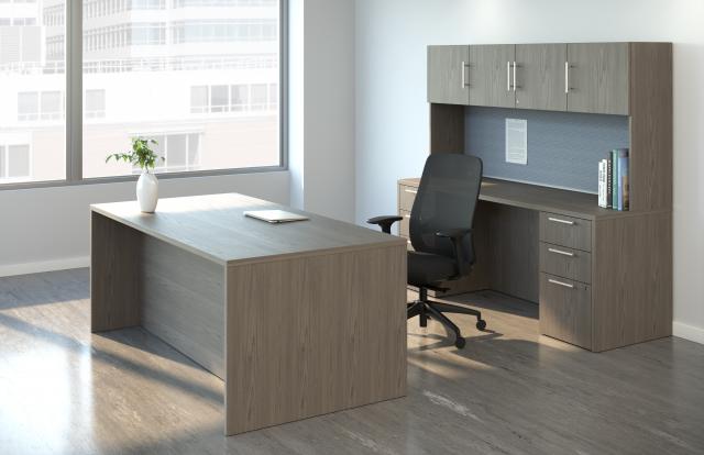 AIS Calibrate Casegoods Private Office Desk