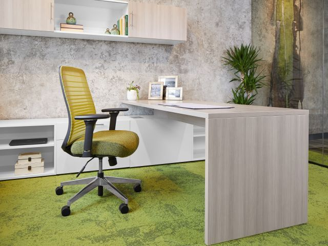 AIS Calibrate Series Casegoods Private Office with Rectangular Desk