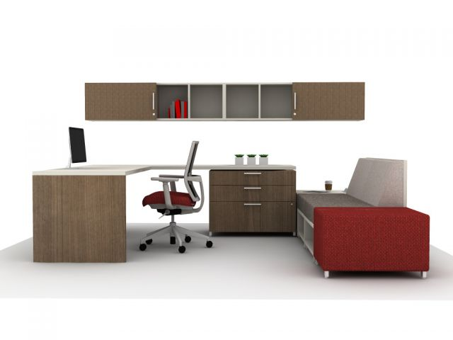 AIS Calibrate Casegoods Private Office with LB Lounge